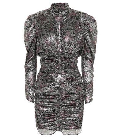 Pandor metallic printed minidress