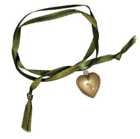 vintage ribbon locket choker