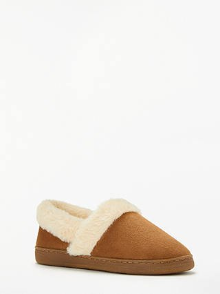 John Lewis & Partners Comfort Cuff Boot Slippers, Chestnut at John Lewis & Partners
