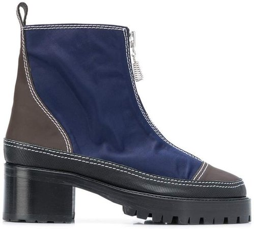 Nicole Saldaña colour block zipped boots