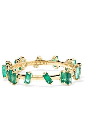 Suzanne Kalan | 18-karat gold emerald ring | NET-A-PORTER.COM