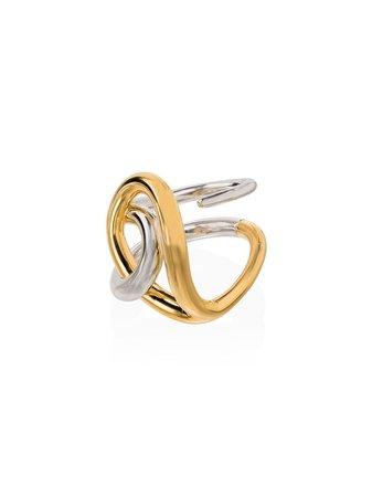 Charlotte Chesnais Blaue Silver Twist Ring | Farfetch.com