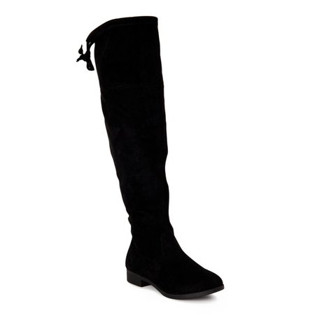 Time and Tru - Time and Tru Women's Over-the-Knee Boots - Walmart.com - Walmart.com black