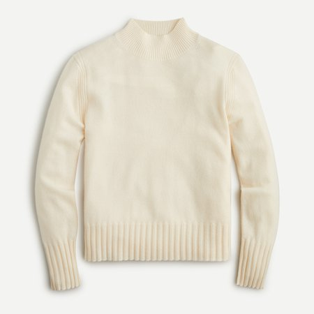 J.Crew: Long-sleeve Everyday Cashmere Mockneck Sweater For Women