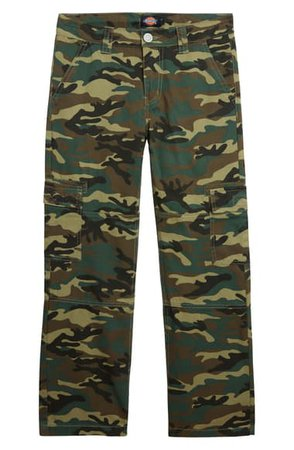Dickies Heritage Camo Cotton Twill Cargo Pants (Big Boy) | Nordstrom