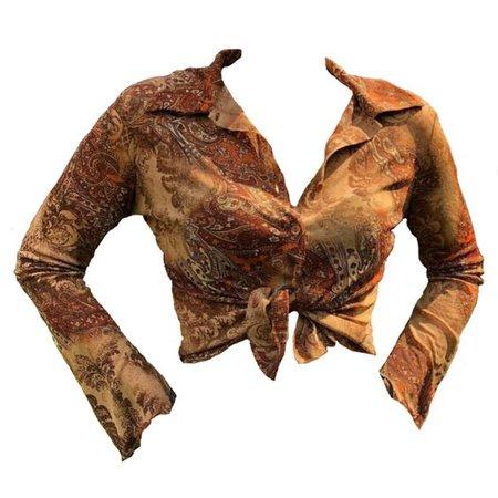 70's boho blouse