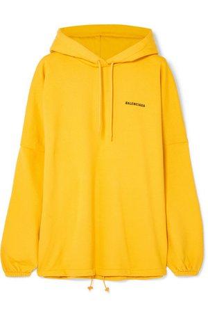 Balenciaga   Oversized embroidered cotton-blend jersey hoodie   NET-A-PORTER.COM
