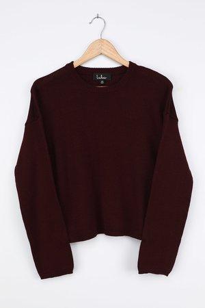 Plum Purple Sweater - Pullover Sweater - Knit Sweater - Lulus