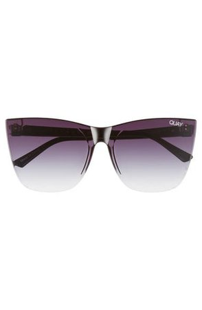 Quay Australia Come Thru 56mm Gradient Cat Eye Sunglasses | Nordstrom