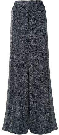 Sophie Striped Metallic Stretch-knit Wide-leg Pants