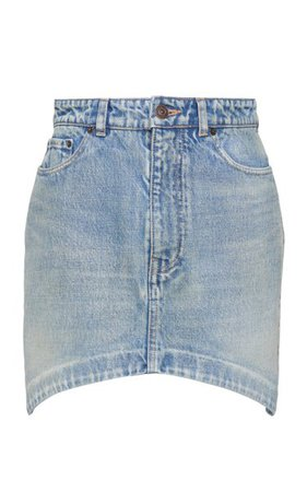 Hourglass Denim Mini Skirt By Balenciaga   Moda Operandi
