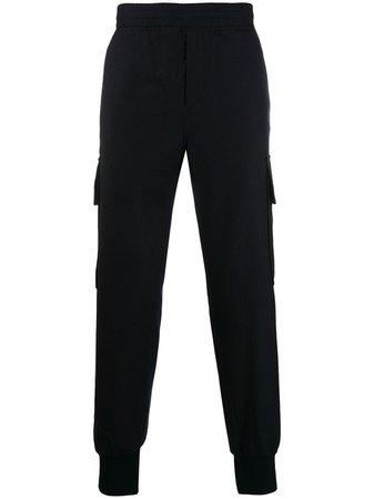 Neil Barrett Ribbed Cuff Trousers PBPA692M067 Blue | Farfetch