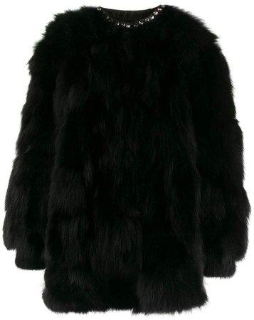 embellished fur jacket