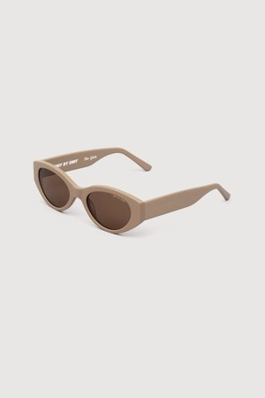 Quin (Solid Sand) Thick Cat-Eye Sunglasses - DMY BY DMY