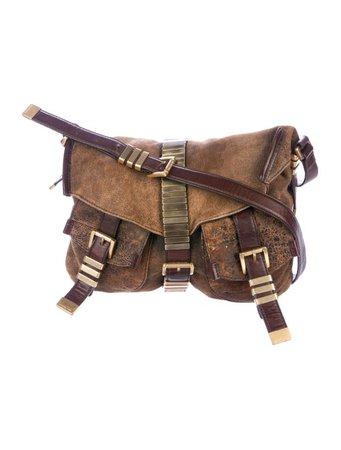 Michael Kors Suede Saddle Bag - Handbags - MIC84056 | The RealReal