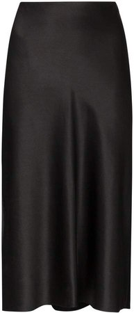 Frances satin pencil skirt