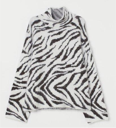 hm zebra sweater