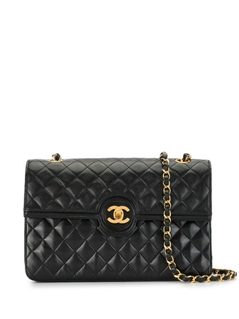 Chanel Pre-Owned 1990S Quilted Cc Shoulder Bag Vintage | Farfetch.Com