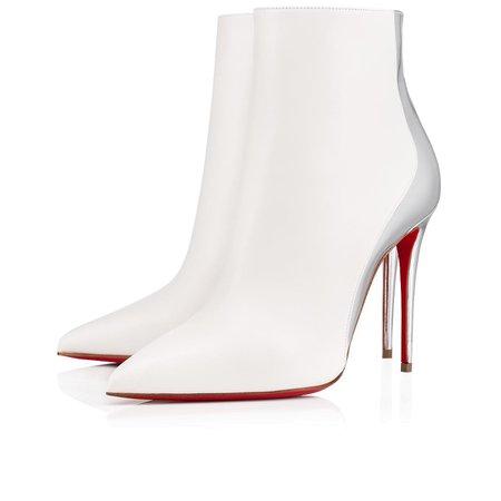 Delicotte 100 Snow/Silver Leather/Specchio - Women Shoes - Christian Louboutin