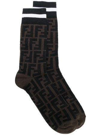 Fendi Monogram Socks - Farfetch