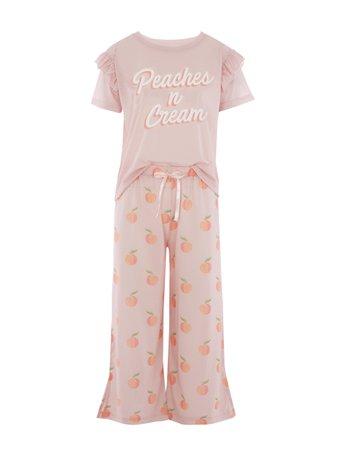 Hey Peachy Peaches & Cream Long Pyjama Set   Skinnydip London