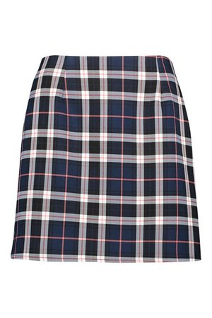 Tartan Check A-Line Mini Skirt | boohoo