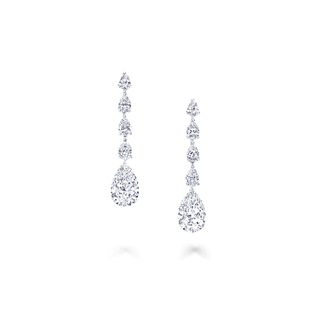 Classic Graff | Pear Shape Earrings, Diamond | Graff