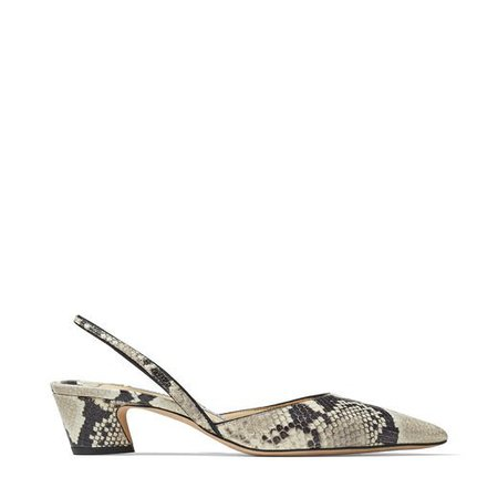 Roccia Python Print Leather Slingback Pumps| K-SLINGBACK 40 | Spring Summer '20 | JIMMY CHOO
