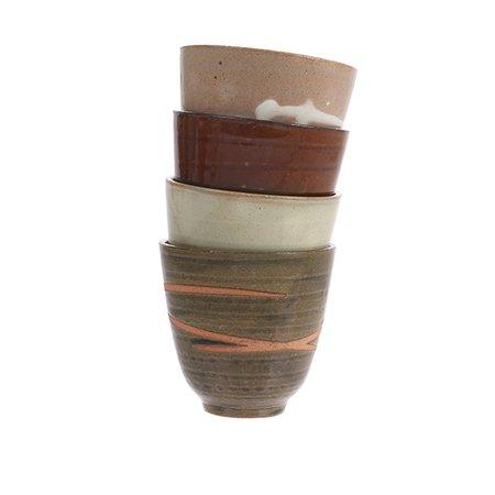 kyoto ceramics: japanese yunomi mugs (set of 4)  ACE6722