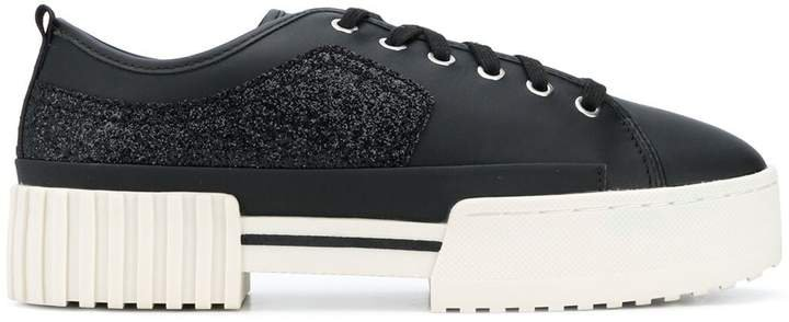 glitter detail Flatform sneakers