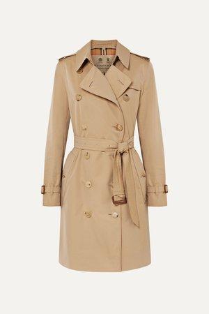Beige The Kensington cotton-gabardine trench coat | Burberry | NET-A-PORTER