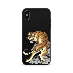Black Wood Printed iPhone Case / Samsung Case Phone Cover - Tiger Inta – MarVik & Co