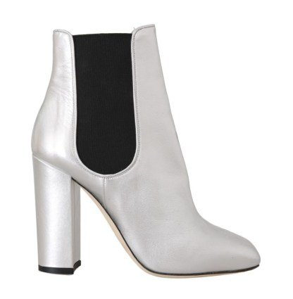Silver Leather Heels Chelsea Boots – Brand Agent
