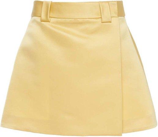 Prada Silk Satin Wrap Mini Skirt