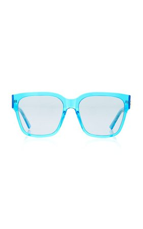 Square-Frame Acetate Sunglasses by Balenciaga | Moda Operandi