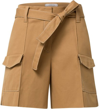 Dorothee Belted Cotton Shorts