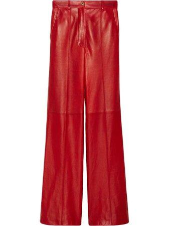 Gucci Lambskin Tailored Trousers - Farfetch