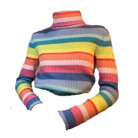 rainbow stripe turtleneck