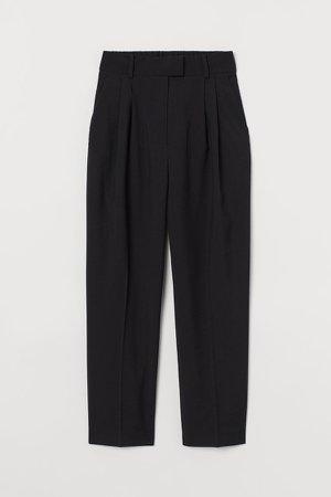 Creased Pants - Black