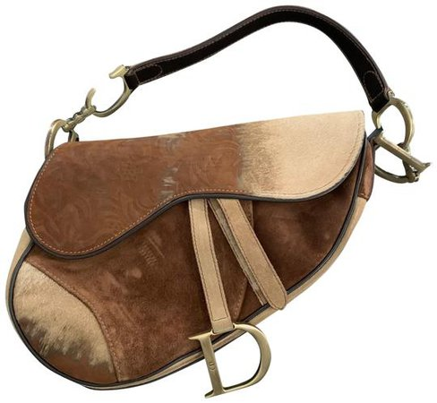Dior Hair Saddle Pony Fur Shoulder Bag