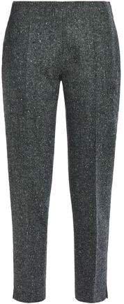 Cropped Wool-tweed Slim-leg Pants
