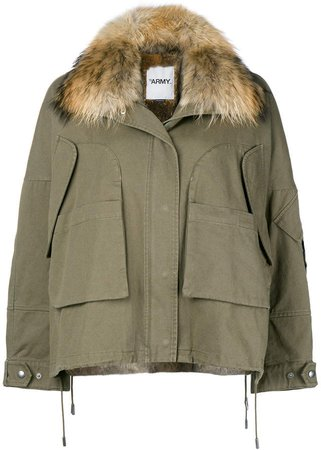 Army oversize hooded parka