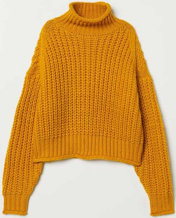 H&M ribbed polo neck jumper