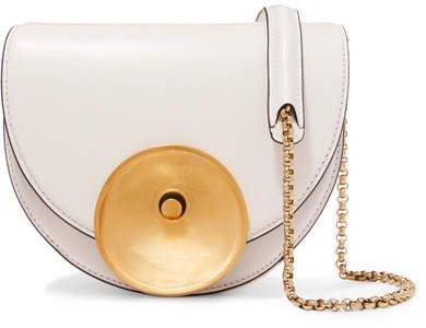 Monile Small Leather Shoulder Bag - White