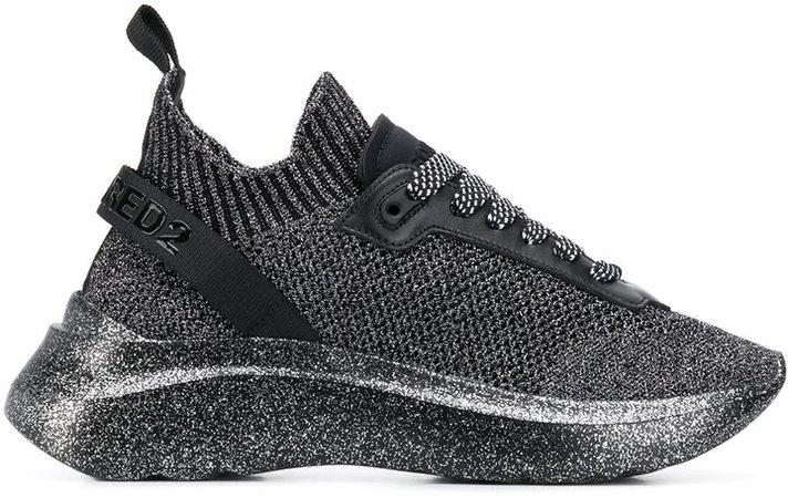 Speedster metallic sneakers