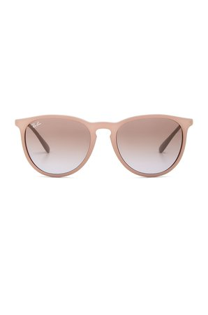 Ray-Ban Erika in Dark Rubber Sand | REVOLVE