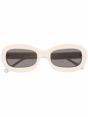 Etudes Out Of The Blue oval-frame sunglasses - FARFETCH