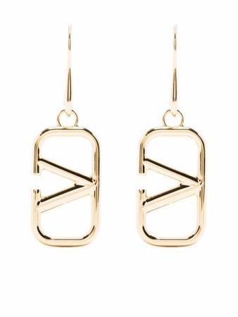 Valentino Garavani VLogo Drop Earrings - Farfetch