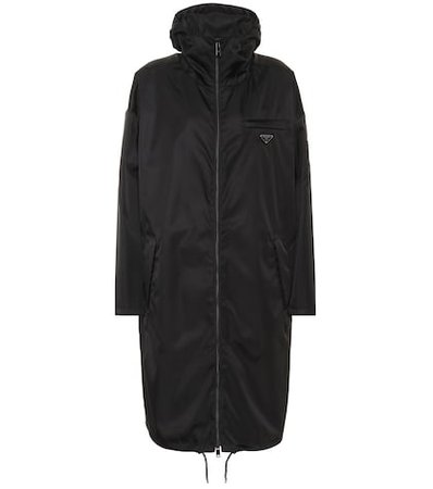 Hooded nylon coat