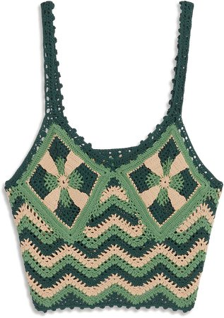 Francine Crop Crochet Camisole